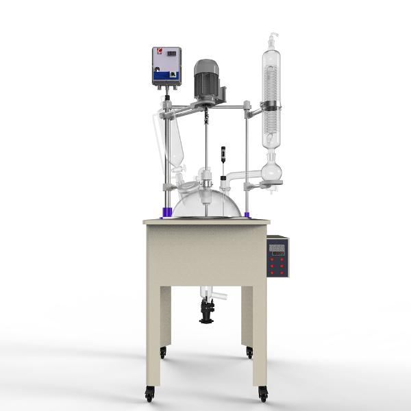 10-50L防爆单层玻璃反应釜3D示意图