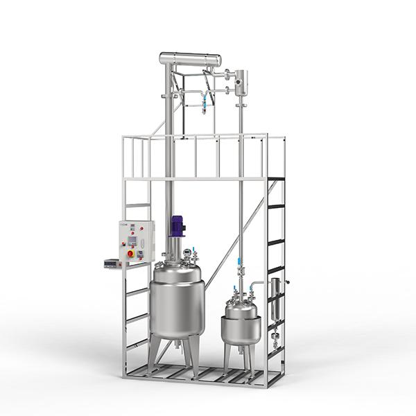200L定制型不锈钢精馏釜3D展示图